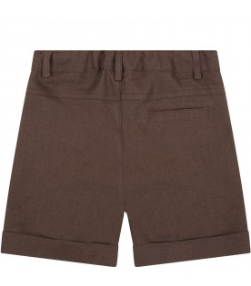 Brown shorts for babyboy