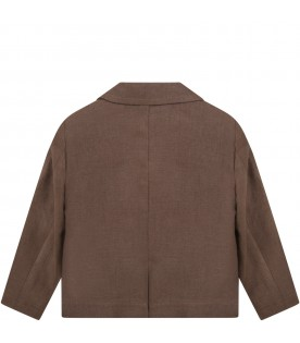 Brown jacket for babykids