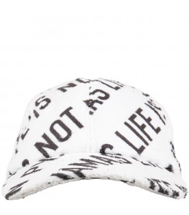 White hat for girl with writings