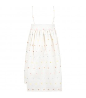 Ivory ''Cecile'' dress for girl with flowers