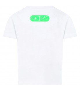 White t-shirt for kids with palm