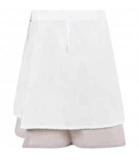 Multicolor skirt for girl with logo