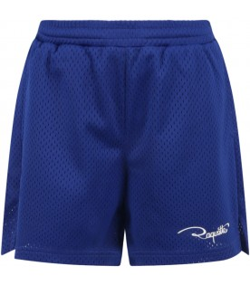 Royal blue short for boy with logo