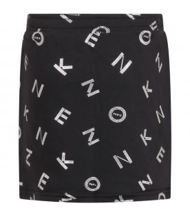 Black short for girl with logos