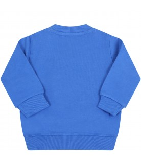 Royal blue sweatshirt for babyboy with tiger
