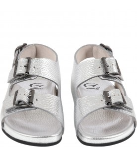 Silver sandals for girl