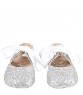 Silver ballerina shoes for babygirl