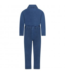 Blue onesie for girl with logo