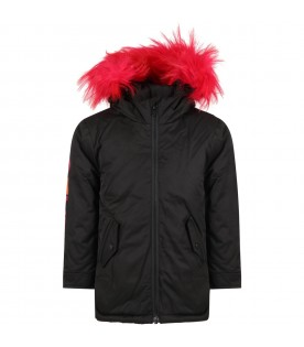 Black parka for girl