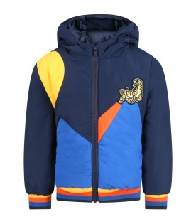 Multicolor jacket for boy with tiger