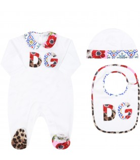 White set for babygirl with logo