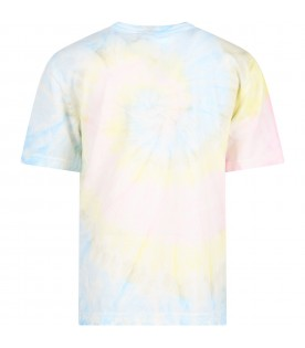 Tie-dye T-shirt for kids with logo