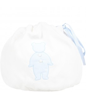 White bag for baby boy