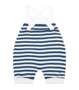 Multicolor dungarees for baby boy