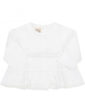 White ''Samia'' blouse for babygirl