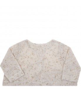 Beige ''Mia'' cardigan for babygirl