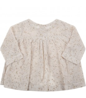 Beige ''Melissa'' cardigan for babygirl