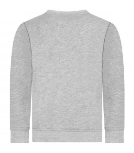 Grey sweatshirt for kids with Mickey mouse