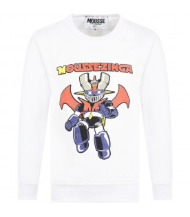 White sweatshirt for kids with toy
