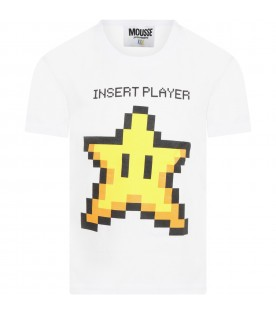 White t-shirt for kids with star