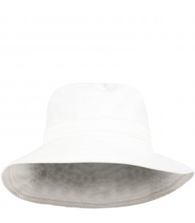 White hat for girl with logo