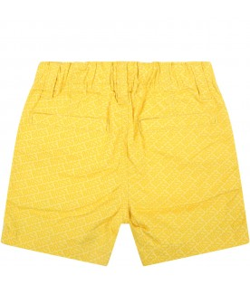 Yellow short for bbyboy with logos