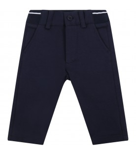 Blue trouser for babyboy with logo