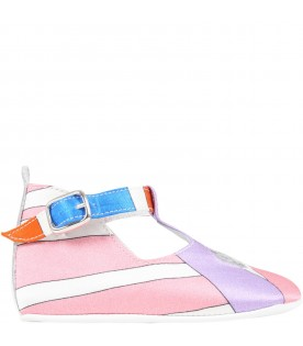 Multicolor shoes for baby girl