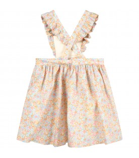 Ivory overall for baygurl with flowers