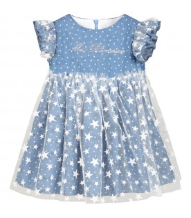 Blue dress for babygirl with stars