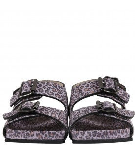 Purple sandals for girl