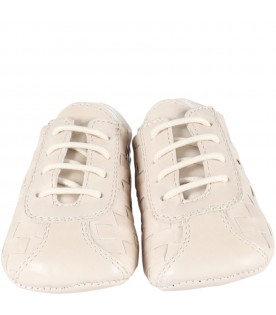 Ivory shoes for babyboy