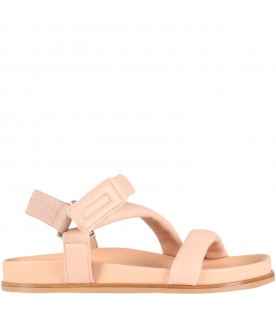 Pink sandals for girl