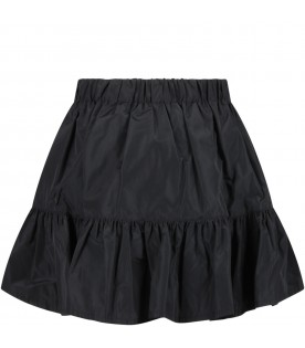 Black skirt for girl with bow