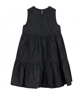 Black dress for girl with bow