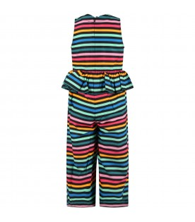 Multicolor overall for girl