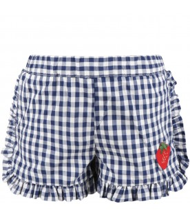 Multicolor short for girl with strawberry