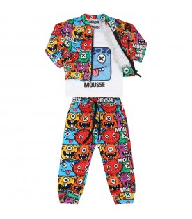 Multicolor tracksuit for babyboy