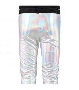 Silver shorts for girl