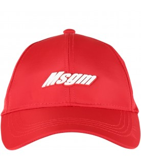 Red hat with logo for kids