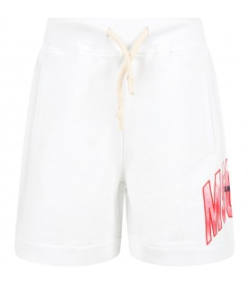White short with logo for boy