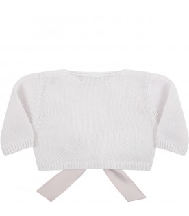 White cardigan for baby girl