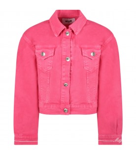 Fuchsia jacket for girl