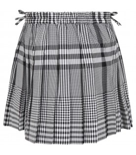 Multicolor skirt for girl with iconic check