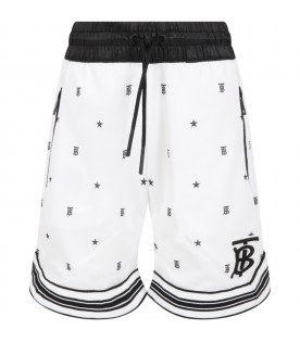 White short for kids with logos