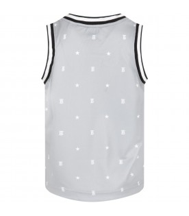 Grey tank top for kids with logos