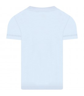 Light blue t-shirt for kids with logo