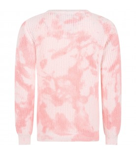 Pink sweater tie dye for girl