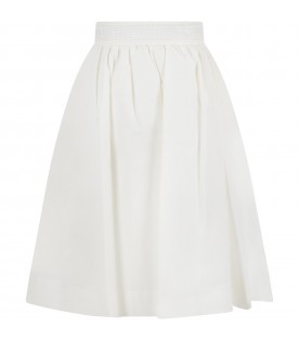 White skirt for girl with double FF