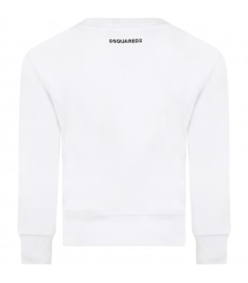 White sweatshirt for kids with heart